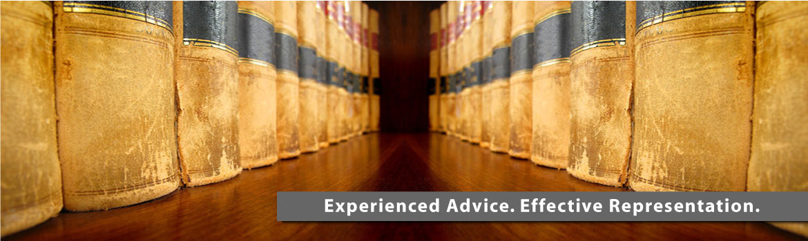 Experienced Advice. Effective Representation. | law books